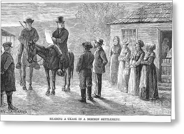 Mormon Ukase, 1875 Greeting Card