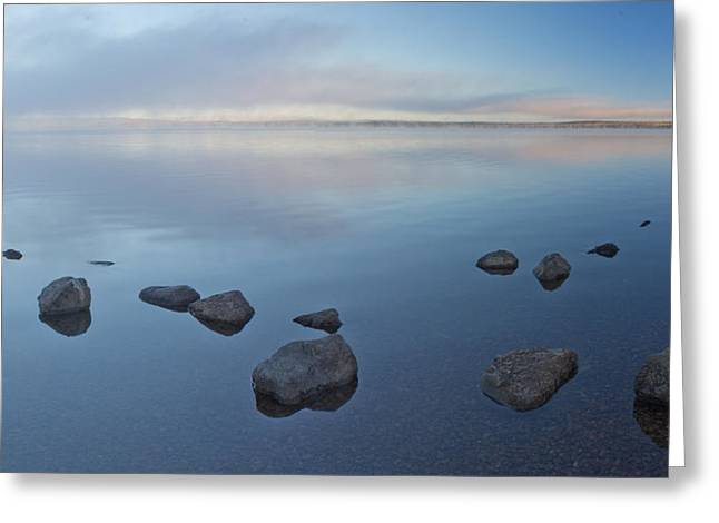 Morning At Lewis Lake Greeting Card by Twenty Two North Photography