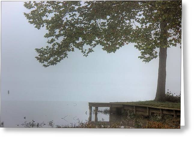 Morning Fog Greeting Card by Barry Jones