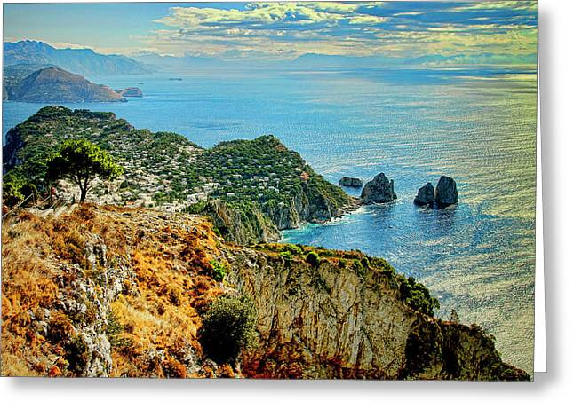 Morning In Capri Greeting Card by Andre Salvador