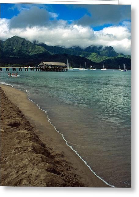 Morning In Hanalei Bay Greeting Card by Kathy Yates