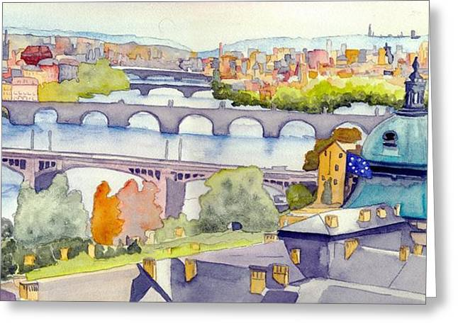 Morning In Prague Greeting Card by Gerald Carpenter