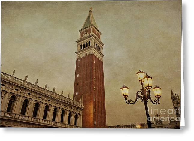 Morning In St Mark's Greeting Card by Marion Galt
