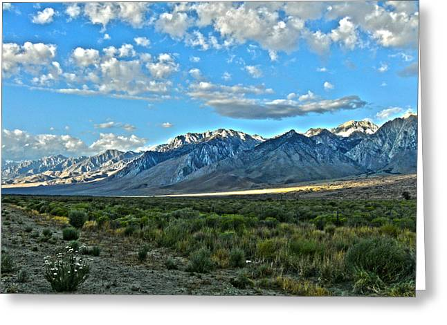 Morning In The Eastern Sierras Greeting Card