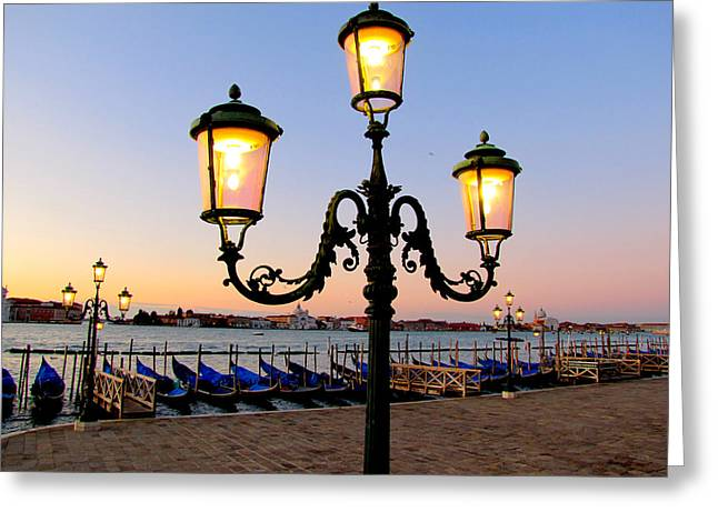 Greeting Card featuring the photograph Morning In Venice by Barbara Walsh