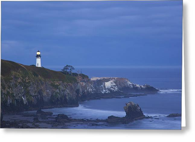 Morning Light Over Yaquina Head Greeting Card by Craig Tuttle