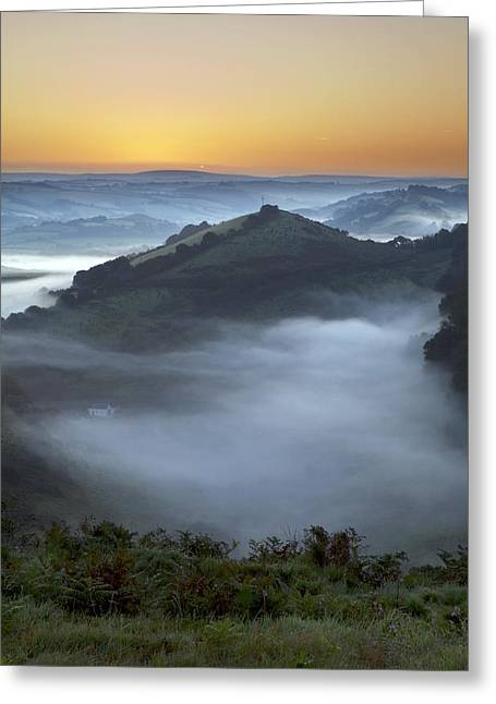 Morning Mist Greeting Card by Dr Keith Wheeler