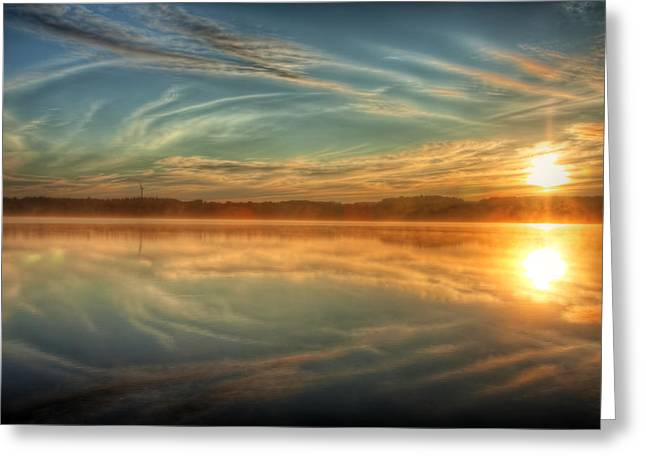 Morning Mist Greeting Card by Gary Smith