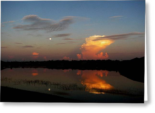 Greeting Card featuring the photograph Morning Moon by Bill Lucas