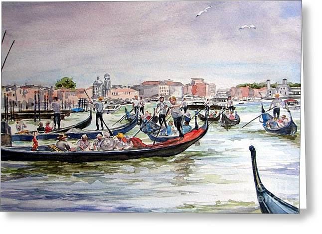 Morning On Grand Canal Greeting Card