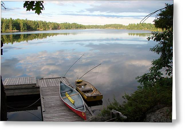 Morning On Pine Lake 1 Greeting Card by Bruce Ritchie