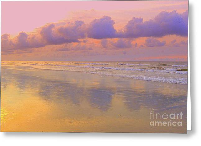 Greeting Card featuring the photograph Morning On The Beach  by Lydia Holly