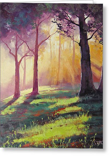 Morning Sunlight Greeting Card by Graham Gercken