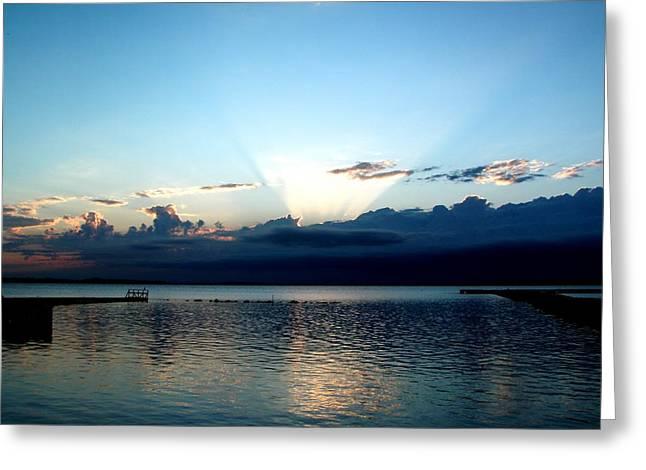 Morning Sunrise Storm Greeting Card by Jonathan Lagace