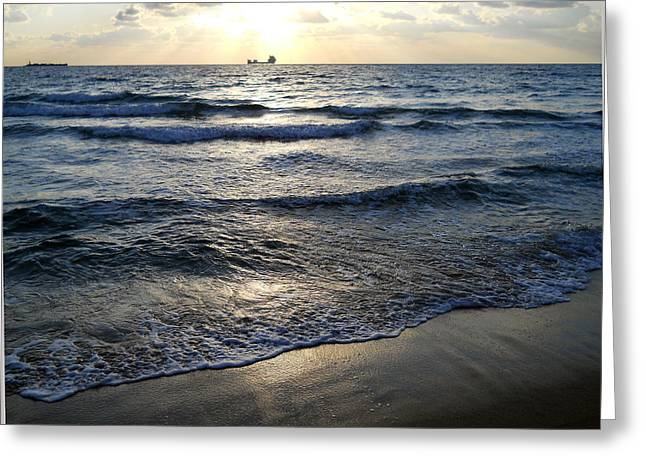 Greeting Card featuring the photograph Morning Surf by Clara Sue Beym