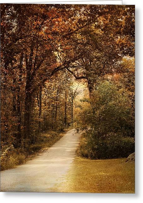 Morning Walk Greeting Card by Jai Johnson