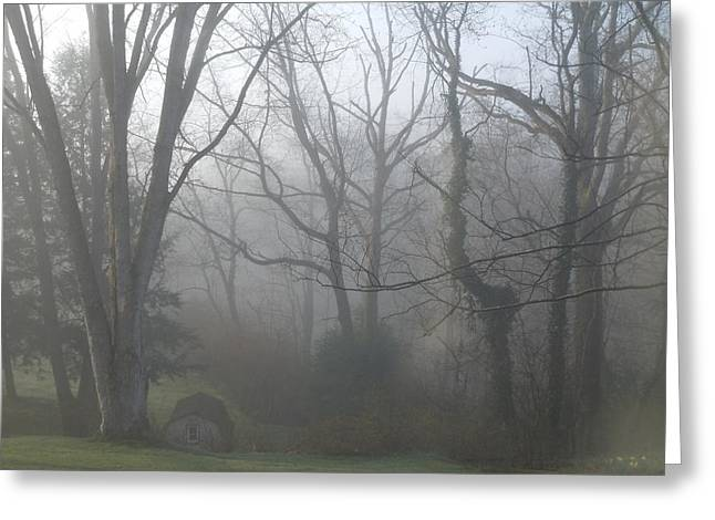 Morning Winter Fog Greeting Card by James Guentner