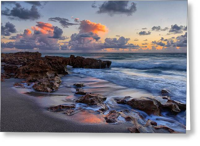 Mornings Reflections Greeting Card by Claudia Domenig