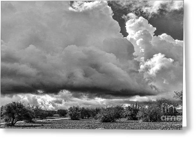 Morocco Clouds Greeting Card by Chuck Kuhn