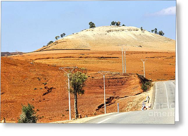 Morocco Landscape I Greeting Card by Chuck Kuhn