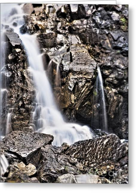 Greeting Card featuring the photograph Morrell Falls 2 by Janie Johnson