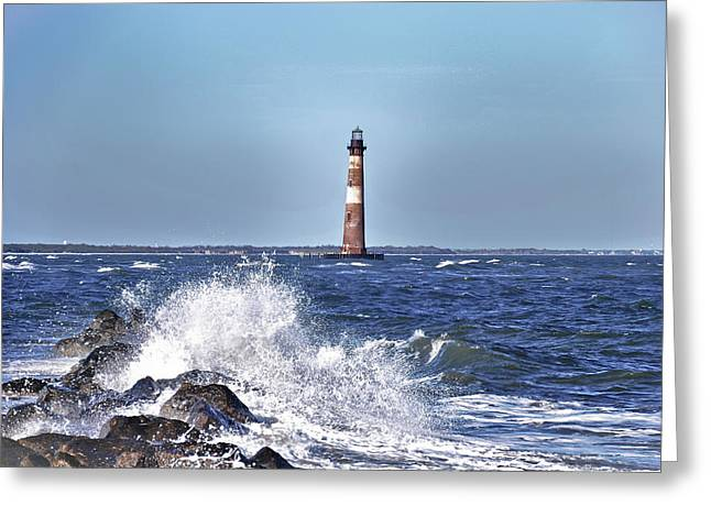 Morris  Island Lighthouse Greeting Card