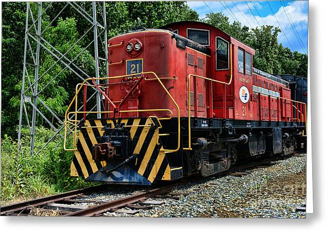 Morristown  Erie Engine No.21 Greeting Card