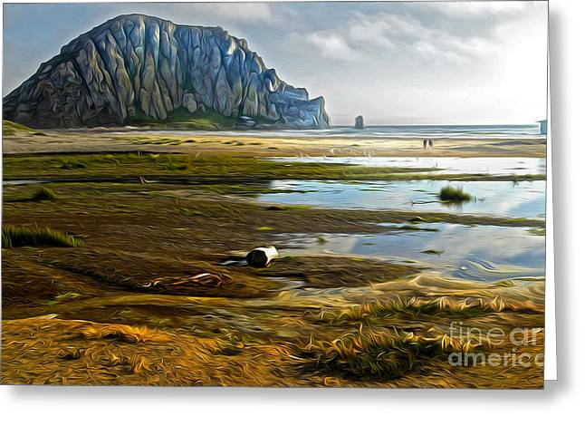Morro Bay - Morro Rock Greeting Card by Gregory Dyer