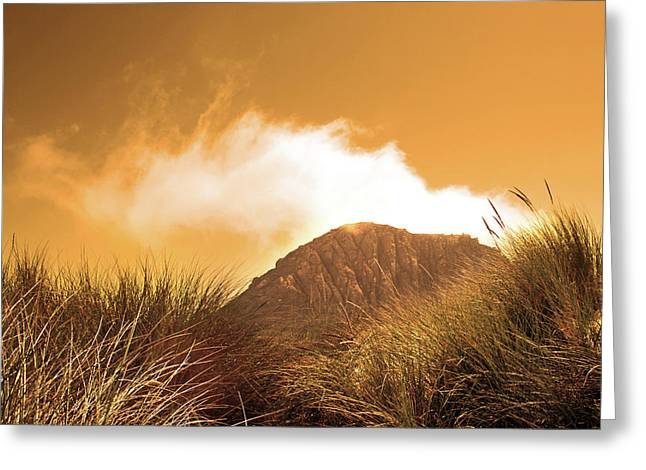 Greeting Card featuring the photograph Morro Rock by Michael Rock