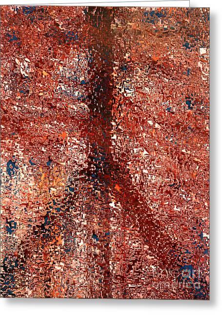 Mosaic Peace Greeting Card by Robert Haigh