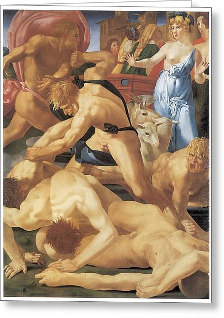 Moses And The Daughters Of Jethro Greeting Card by Rosso Fiorentino