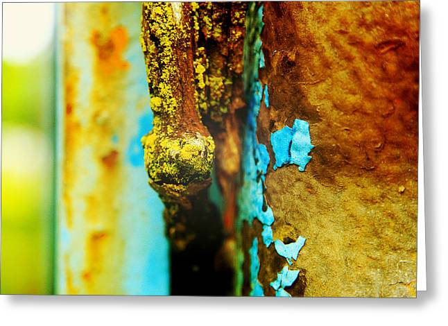 Moss And Rust II Greeting Card by Toni Hopper