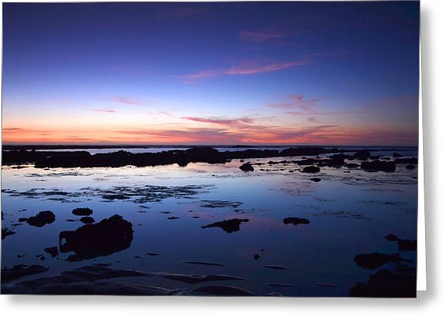 Moss Beach - Fitzgerald Reserve Reflection Greeting Card