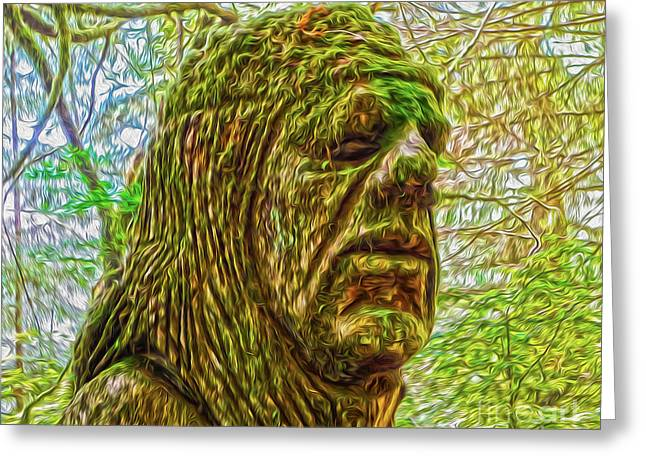 Moss Man Greeting Card by Gregory Dyer