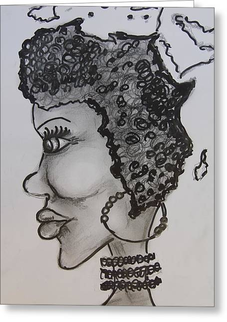 Mother Africa Greeting Card by Sladjana Lazarevic