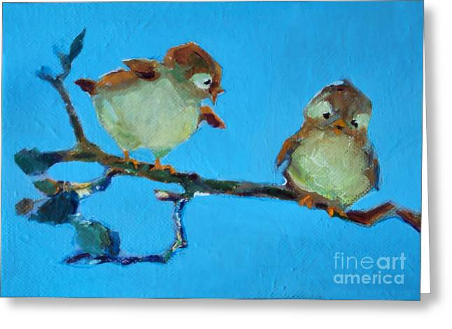 Mother And Baby Bird Greeting Card