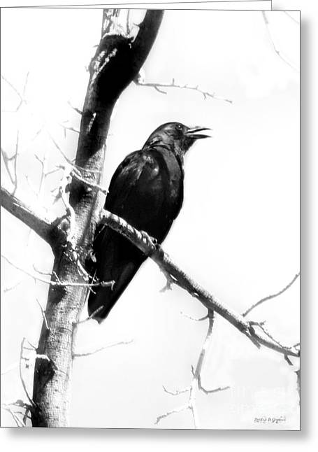 Greeting Card featuring the digital art Mother Crow by Rhonda Strickland
