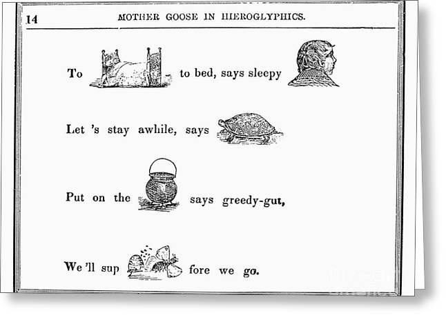 Mother Goose, 1849 Greeting Card