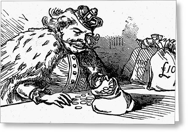 Mother Goose: King Greeting Card