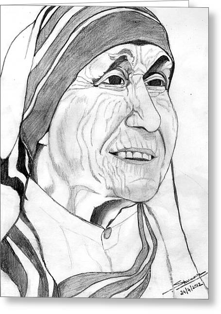 Mother Of Love Greeting Card by Shashi Kumar