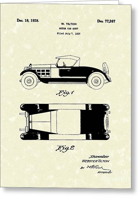 Motor Car Tilton 1928 Patent Art Greeting Card