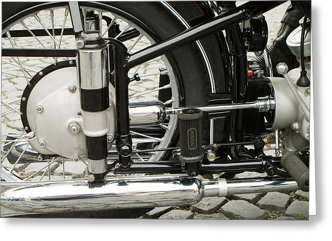 Motorcycle Greeting Card by Odon Czintos