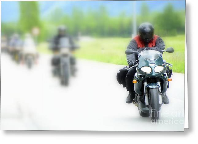 Motorcyclists Greeting Card