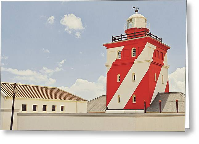 Mouille Point Lighthouse Greeting Card by Benjamin Matthijs