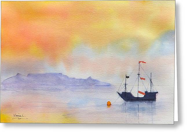 Mouille Point Mooring Cape Town Greeting Card by Harold Kimmel