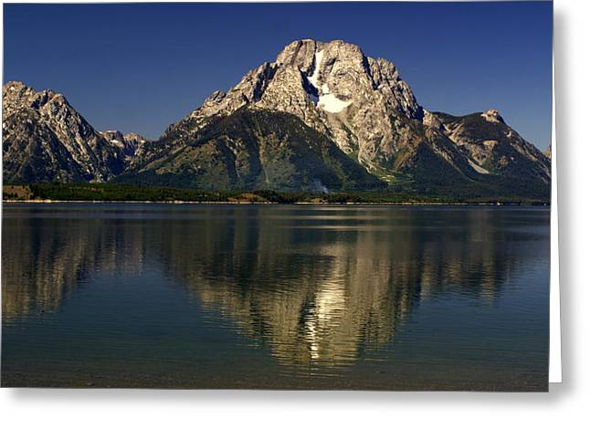 Greeting Card featuring the photograph Moujnt Moran 5 by Marty Koch