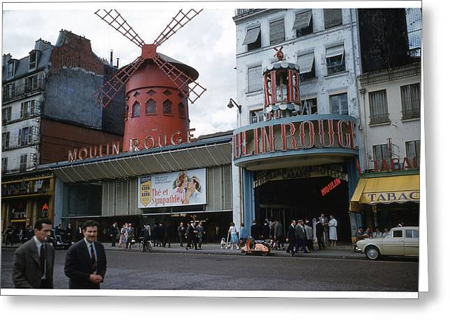 Moulin Rouge Greeting Card by Theo Bethel