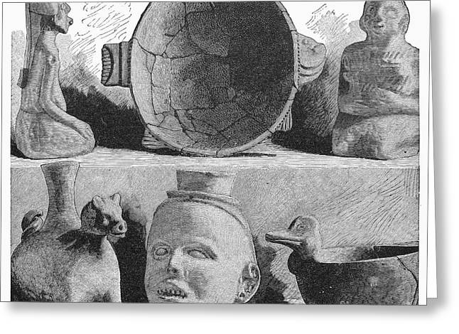 Mound Builders: Pottery Greeting Card by Granger