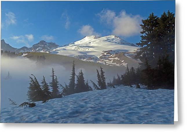 Mount Baker In The Clouds Greeting Card by Mike Reid
