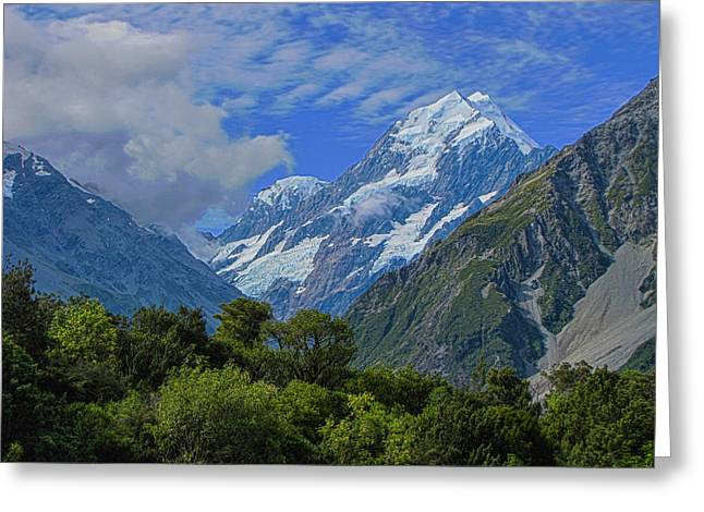 Greeting Card featuring the photograph Mount Cook by David Gleeson